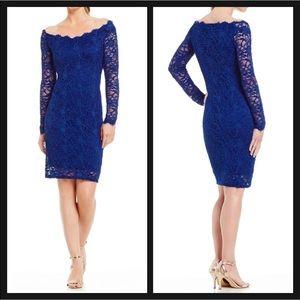 ✨NWT✨ Elegant Long Sleeve Royal Blue Lace Dress💙